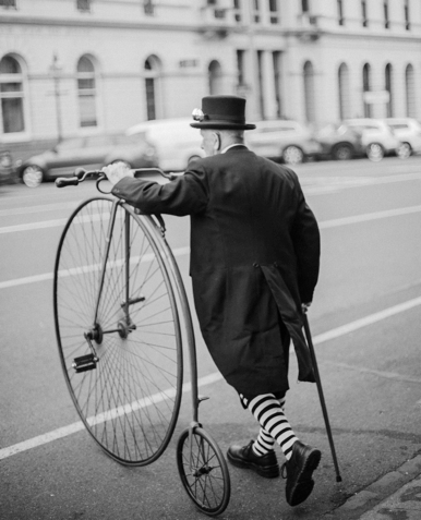 Old fashioned penny-farthing bicycle